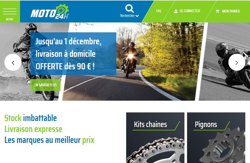Site Magento2 pour Moto24h