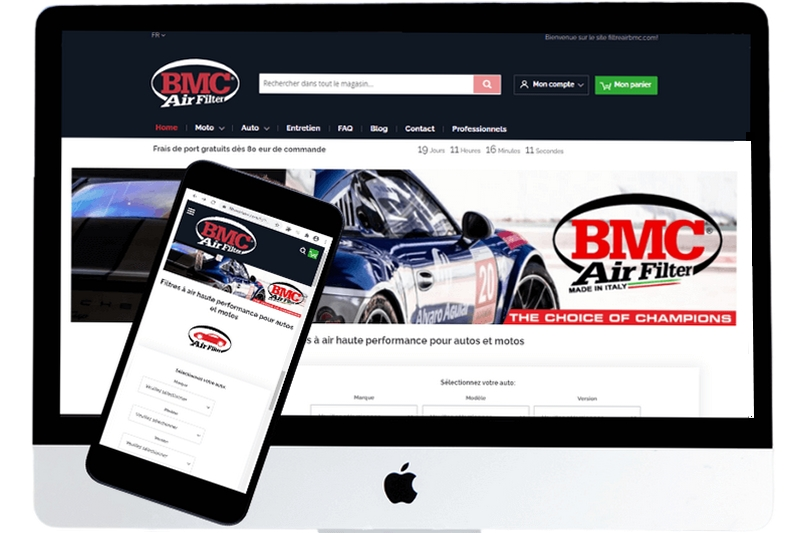 Magento2 site for FiltreAirBMC
