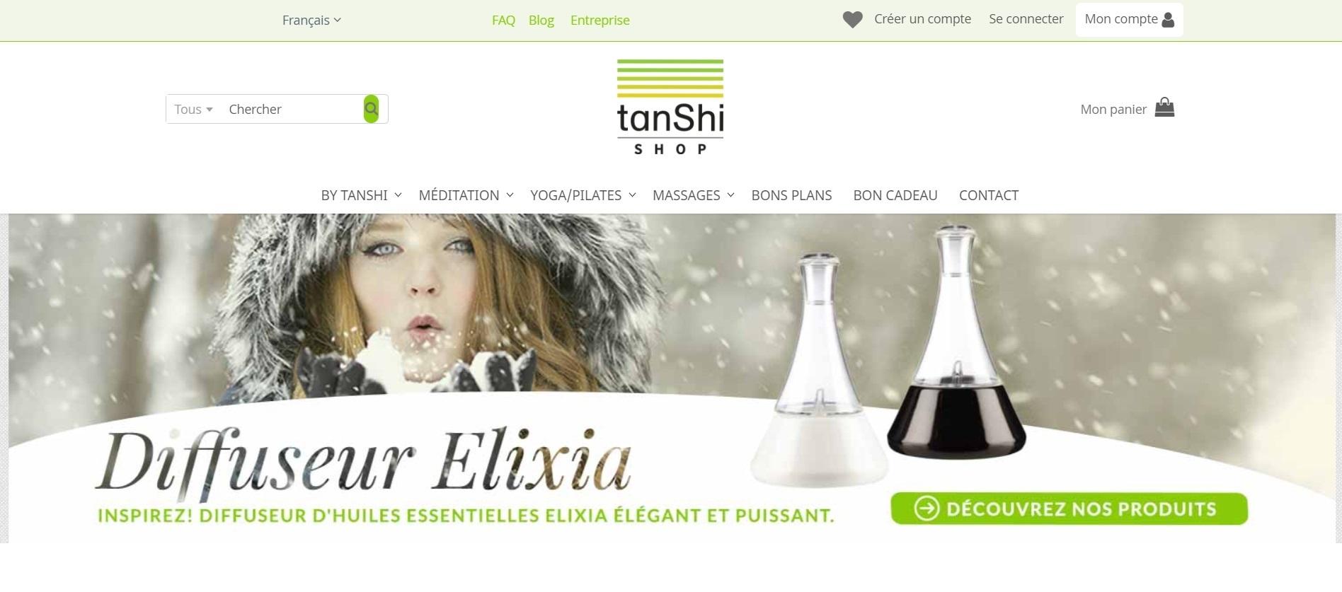 site Ecommerce Magento2 pour tanShi